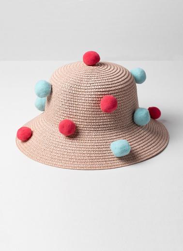 Katia & Bony Kız Çocuk Mix Ponponlu Şapka  Pudra